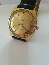 VINTAGE 1970s ZENITH AUTOSPORT AUTOMATIC WATCH 23 Jewels  20 microns Gold