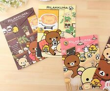 3 x cute cardboard Rilakkuma bear A4 folder file stationery kawaii