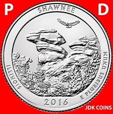 2016 P&D SHAWNEE NATIONAL FOREST (IL) TWO QUARTERS SET UNCIRCULATED
