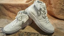 Mens Nike Air Force 1 Mid white Flyknit size 10