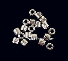 Lots 100Pcs Tibetan silver charm Square spacer beads Jewelry finding 4x3mm S2