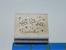 Stampin Up Rubber Stamp - Phrase - Fa-La-La (Singing Carolers Words)