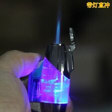 Free Shipping! Handy Jet Torch Flame Butane Refillable Lighter with LED/Keyring