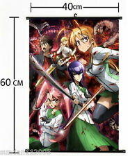 Anime HIGHSCHOOL OF THE DEAD Wall Poster Scroll Home Decor cosplay