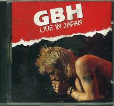 GBH - Live in Japan 1991 - DOJO CD - SEALED