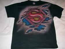 Superman Symbol DC Comics Black Jerzees T-Shirt Mens X-Large XL used