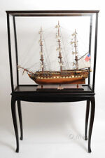 XL Wood Tall Ship Model Boat Display Case Cabinet Stand w/ Legs New