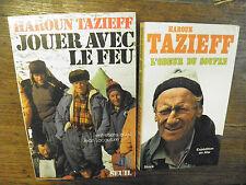 Lot de 2 livres de Haroun Tazieff : Jouer avec le feu + l'odeur du souffre