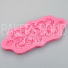 Baroque Vintage Swirly Delights Silicone Mould Cake Fondant Sugarcraft Topper