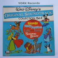 WALT DISNEY'S ORIGINAL SOUNDTRACK COLLECTION VOL 2 - Ex Con LP Record Pickwick