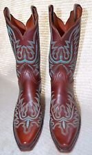 Women's Lucchese 1883 Tan Buccaneer Calf Boots with Mayela Stitch 7 1/2 B