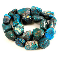 "18-25mm Natural Blue Hubei Turquoise Nugget Beads 15"" (TU656)g"