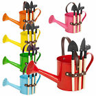 Mini Indoor Outdoor Metal Watering Can Bucket + 3 Gardening Flower Pot Tools Set