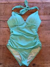 "Seafoam Glow~LARGE~Victoria's Secret ""THE FOREVER PUSH UP HALTER""  One Piece"