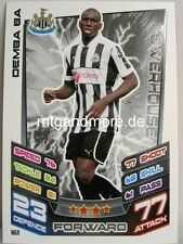 Match Attax 2012/13 Premier League - #161 Demba Ba - Newcastle United