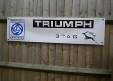 Triumph Stag - Leyland Cars workshop banner