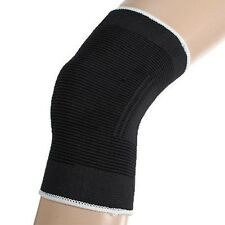 Black Elasticated Knee Patella Support Arthritis Brace Bandage Protection Sport