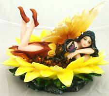 Nemesis Now PETULIA FAIRY LYING ON A YELLOW WATER LILY FLOWER FIGURE