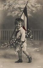 14763/ AK Patriotika, Kind mit Flagge, 1917