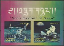 Bhoutan Bhutan Espace Apollo Space Weltraum Non Dentele Imperf Proof ** 1971 3D