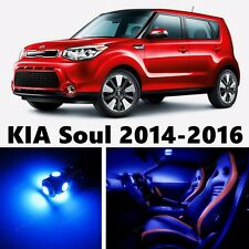 11pcs LED Blue Light Interior Package Kit for KIA Soul 2014-2016