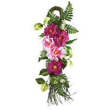 Bright Peony Tear Drop Door Swag, by Collections Etc