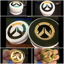 Blizzard Overwatch Gold Metal Badge Pin (Official Merchandise) + Tin Can Box