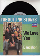 "ROLLING STONES  Dandelion & We Love You  PICTURE SLEEVE 7"" 45 rpm record NEW"
