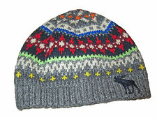 Abercrombie and Fitch Gray Fair Isle Print Beanie Skull Cap Hat