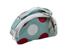 Green Spotty Oilcloth Mini Bag Keyring Key Chain Katz Dancewear KR21 Christmas