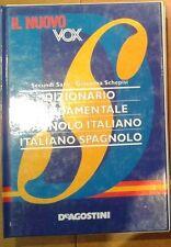 IL NUOVO VOX dizionario fondamentale spagnolo italiano DE AGOSTINI Sanè Schepisi