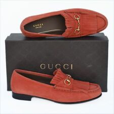 GUCCI New sz 36.5 - 6.5 Authentic Designer Womens Horsebit Flats Loafers Shoes