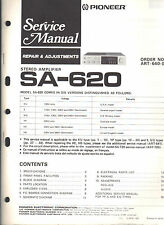Pioneer service manual sa 620 Original Repair book amplifier amp stereo