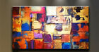 Huge canvas NO frame Modern Abstract multicolor Art Oil Painting Wall Decor