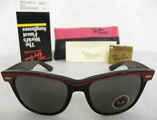 New Vintage B&L Ray Ban Wayfarer II Copper Red/Black W0492 54mm Sunglasses USA