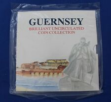 1990 Guernsey 8 coin Uncirculated Set in Folder - Factory Sealed  (X5/35)