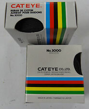 Cat Eye CatEye Handlebar Tape Wrap Pair Adhesive Cotton for Road Bike Black