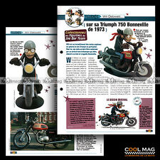 #jbt20.002 ★ TRIUMPH 750 BONNEVILLE T140 '73 & WILL ★ Joe Bar Team Fiche Moto