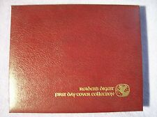 READER'S DIGEST FIRST DAY COVER STAMP COLLECTION W/COA IN LEATHERETTE BINDER
