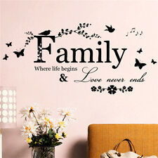 Family Letter Quote Removable Vinyl Decal Art Mural DIY Home Decor Wall.Stickers