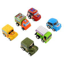 6pcs Set Truck Vehicle Mini Pull Back Car Model Moveable Racer Figures Toy