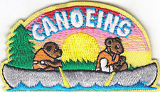 """""""CANOEING"""" PATCH - Iron On Embroidered Applique Patch-Water Sports, Rowing"""
