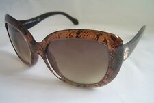 ROBERTO CAVALLI SUNGLASSES ALULA BROWN GLITTER RC 828S 50F GENUINE BNWT