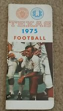 1975 Texas Longhorns Football Media Press Guide Darrell Royal