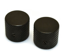 "(2) Black Vintage Barrel Knobs for Tele® & P Bass® 1/4"" Solid Shaft MK-0115-003"