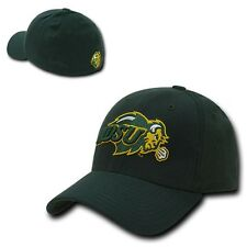 Green North Dakota St State NDSU Bison Flex Baseball Fitted Fit Ball Cap Hat
