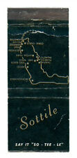 SOTTILE BANKING DIVISION FLORIDA MATCHBOX LABEL ANNI '50 AMERICA