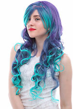 Hatsune Miku Vocaloid LUKA Mix Color Long Wave Curly Hair Anime Cosplay Wigs