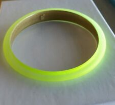 Alexis Bittar Neon Yellow Lucite Tapered Bangle Bracelet $70