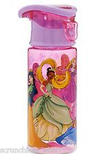 Disney Store Princess Plastic Water Bottle Drink Cinderella Tiana New for 2016
